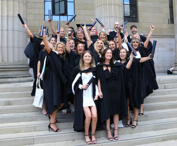 A happy bunch of Community Learning & Development graduates.