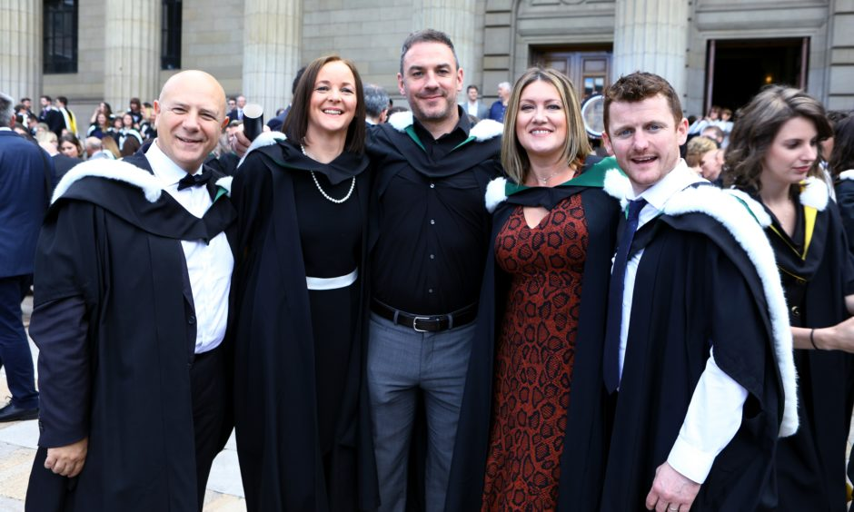 Professional Development in Leadership and Managemant graduates, L/R, Paolo Ruoppolo, Claire Gardner, Liam Conlan, Nicola Flynn and Nigel Kelly.