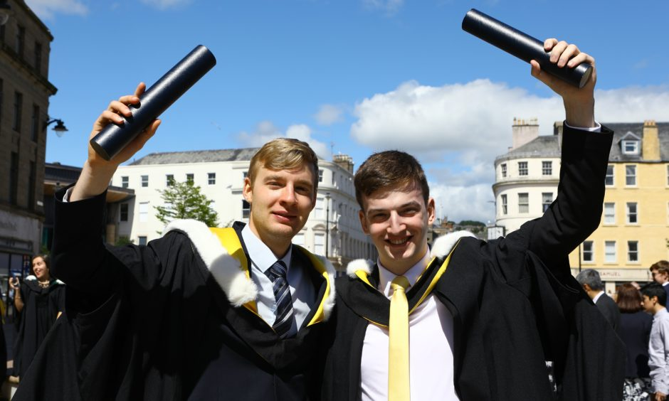 Emmanuel Thamm and Anthony McGuigan, who both graduated in Environmental Science.