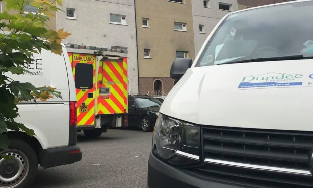 Paramedics were called to Clifden Blue Court in Whitfield's Dunbar Park estate at around 10am on Wednesday.