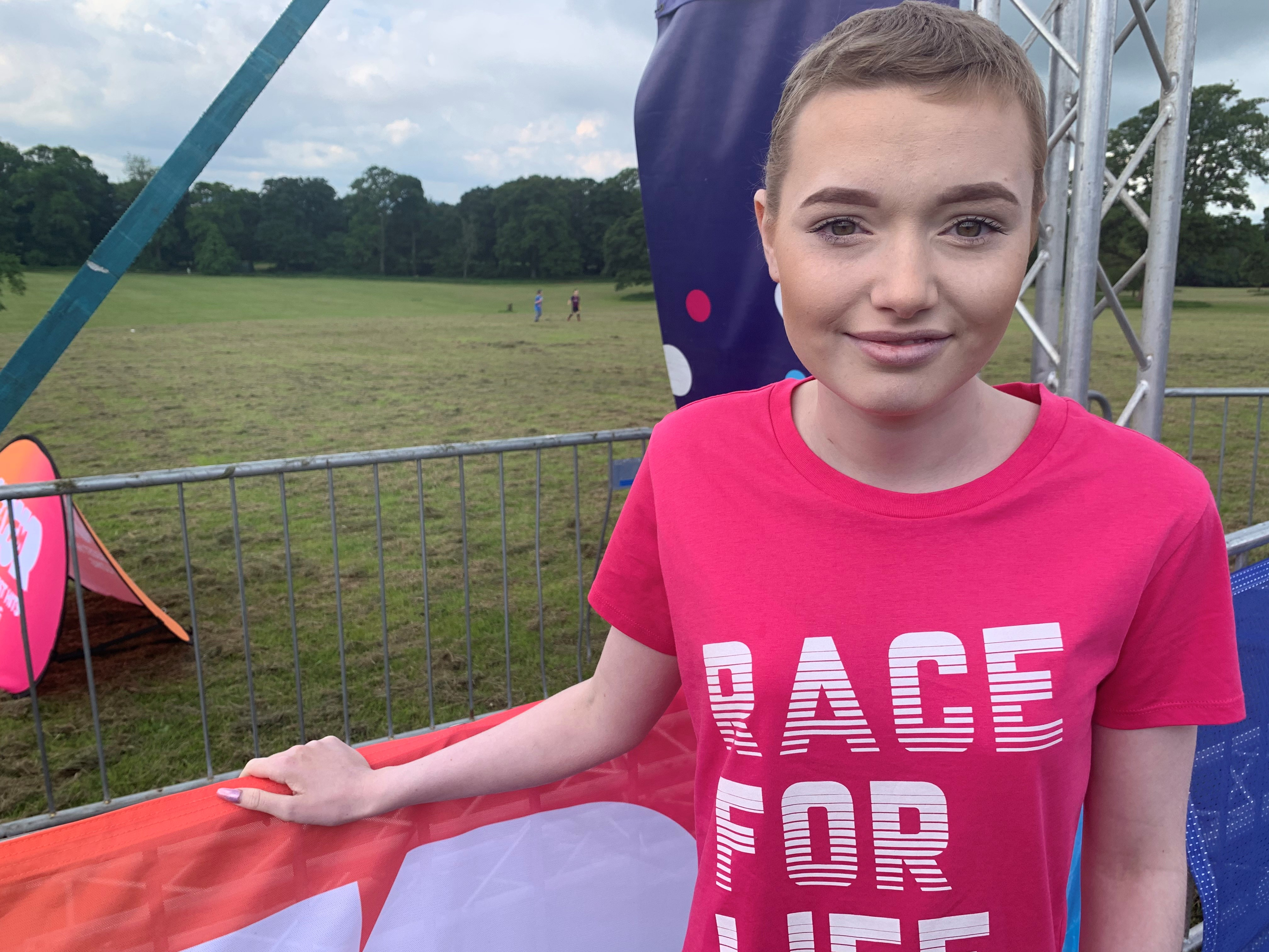 Ellie Sutherland at the Race for Life.