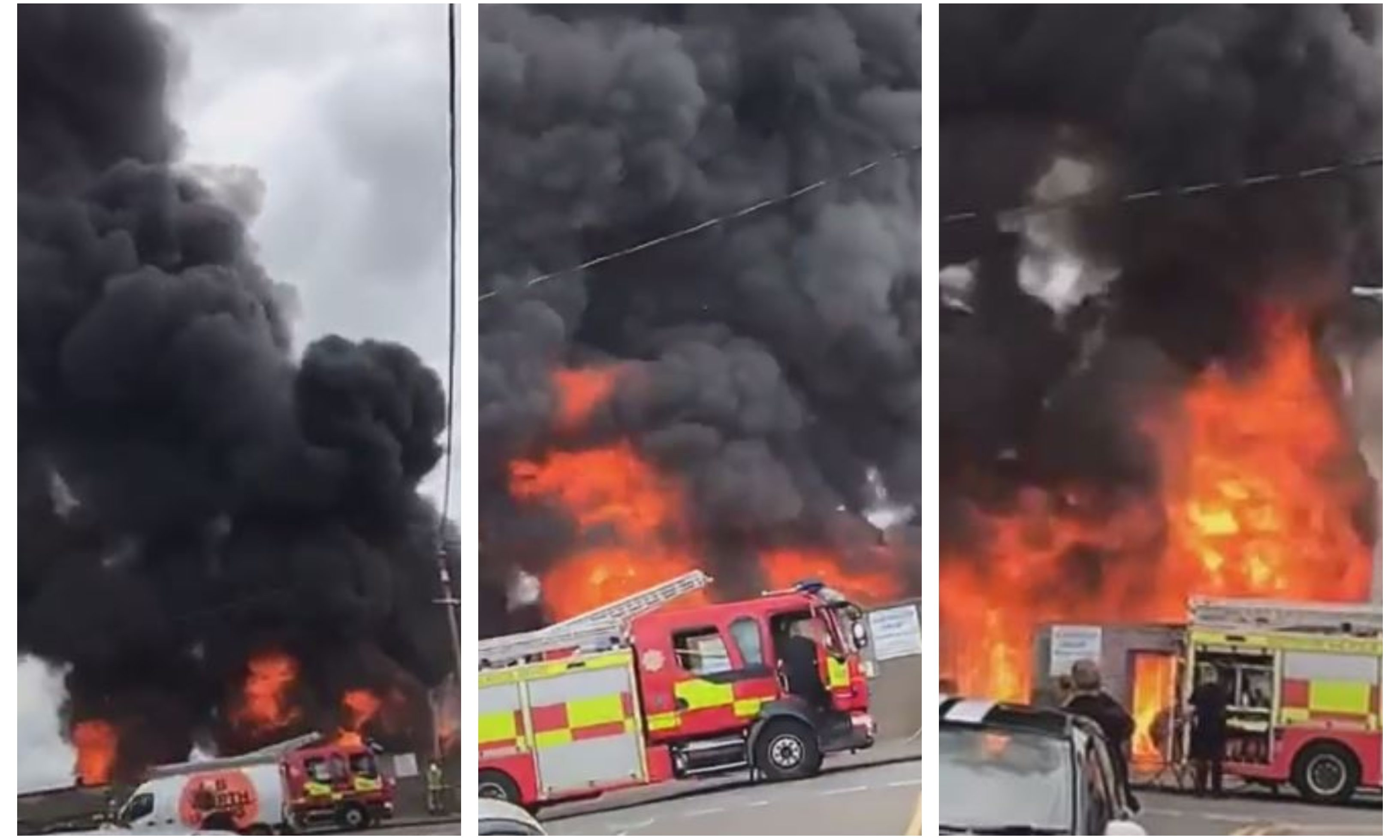 Footage of the Bo'ness blaze, posted to the Bo'ness Natters Facebook page.