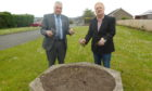 Councillors Ken Caldwell, left, and John O Brien at Methilmill Cemetery