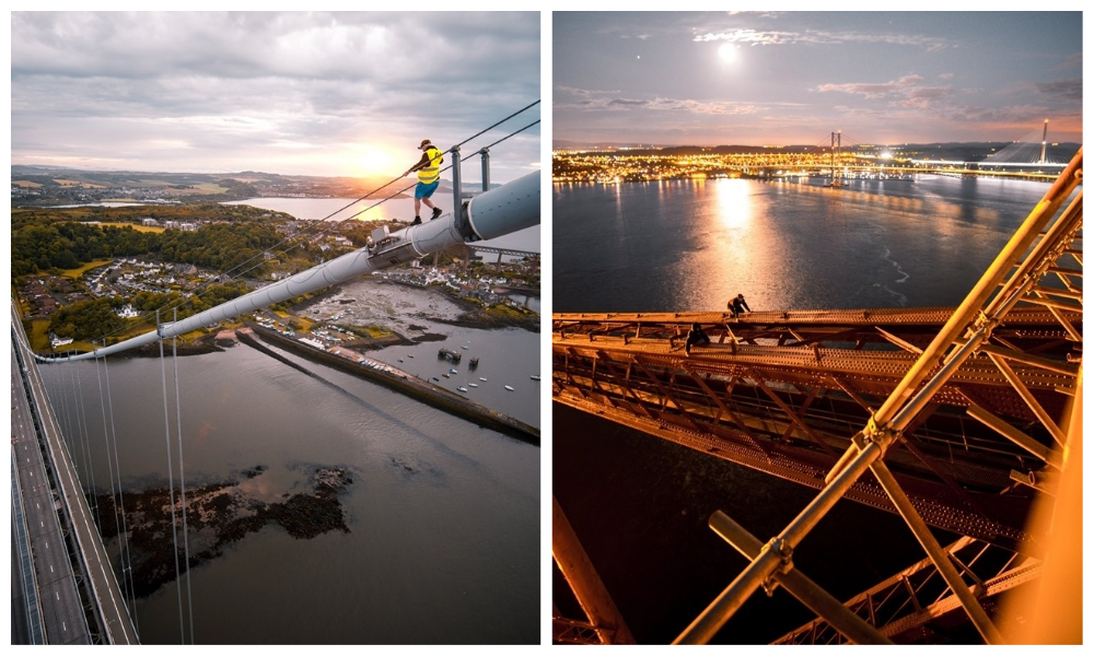 Security is to be reviewed on the road bridges across the Forth following the arrest of four men on trespassing charges.