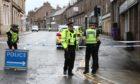 Police at the scene in Brechin.
