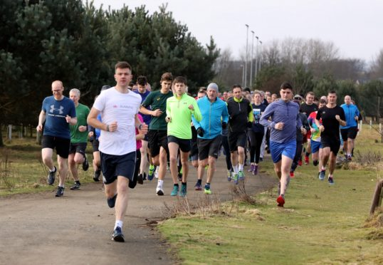 The parkrun meets every Saturday in Montrose.