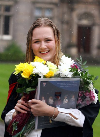 Tess Westbrook (21) from the highlands graduated in Social Anthropology.