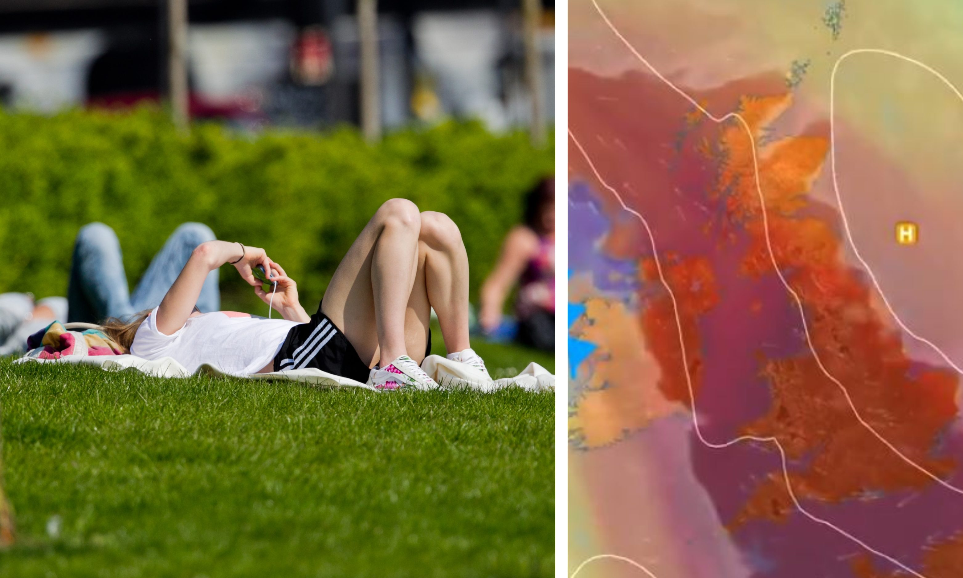 A heatwave is due in Scotland on Friday and Saturday.
