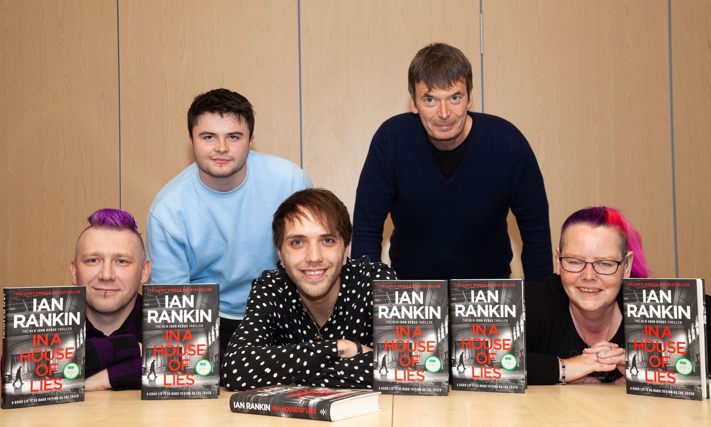 Malcolm Ross, Joe Hunt, Scott Duncan, Ian Rankin and Catriona Ross.