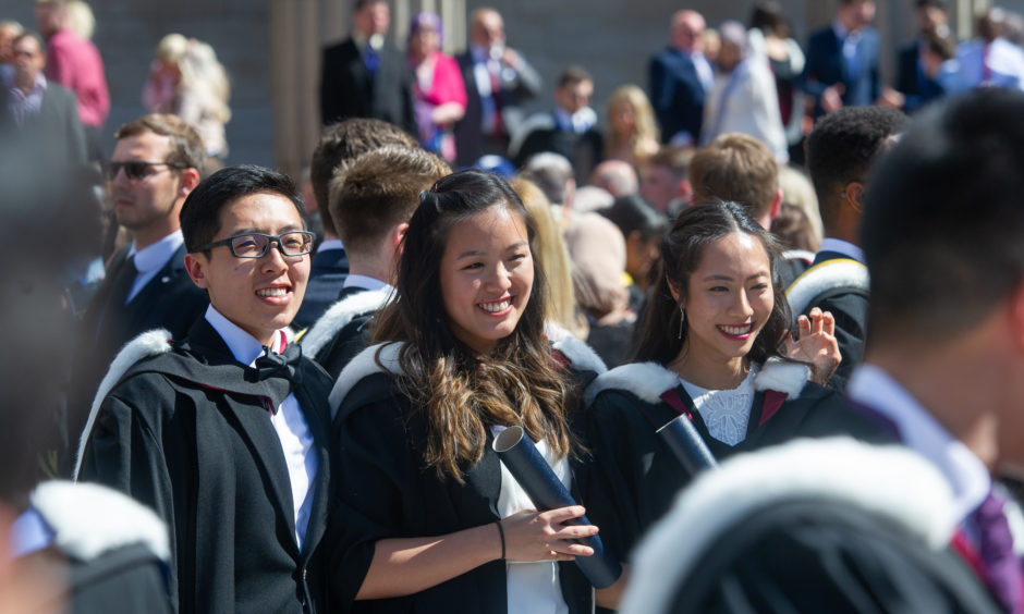 New graduates enjoy their day. Picture by Kim Cessford / DCT Media