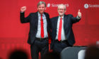 Labour leader Jeremy Corbyn, right, with Richard Leonard.