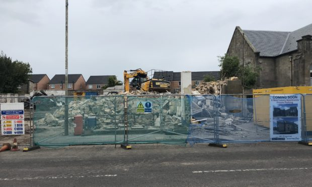 The site on Kinross High Street following the unauthorised demolition