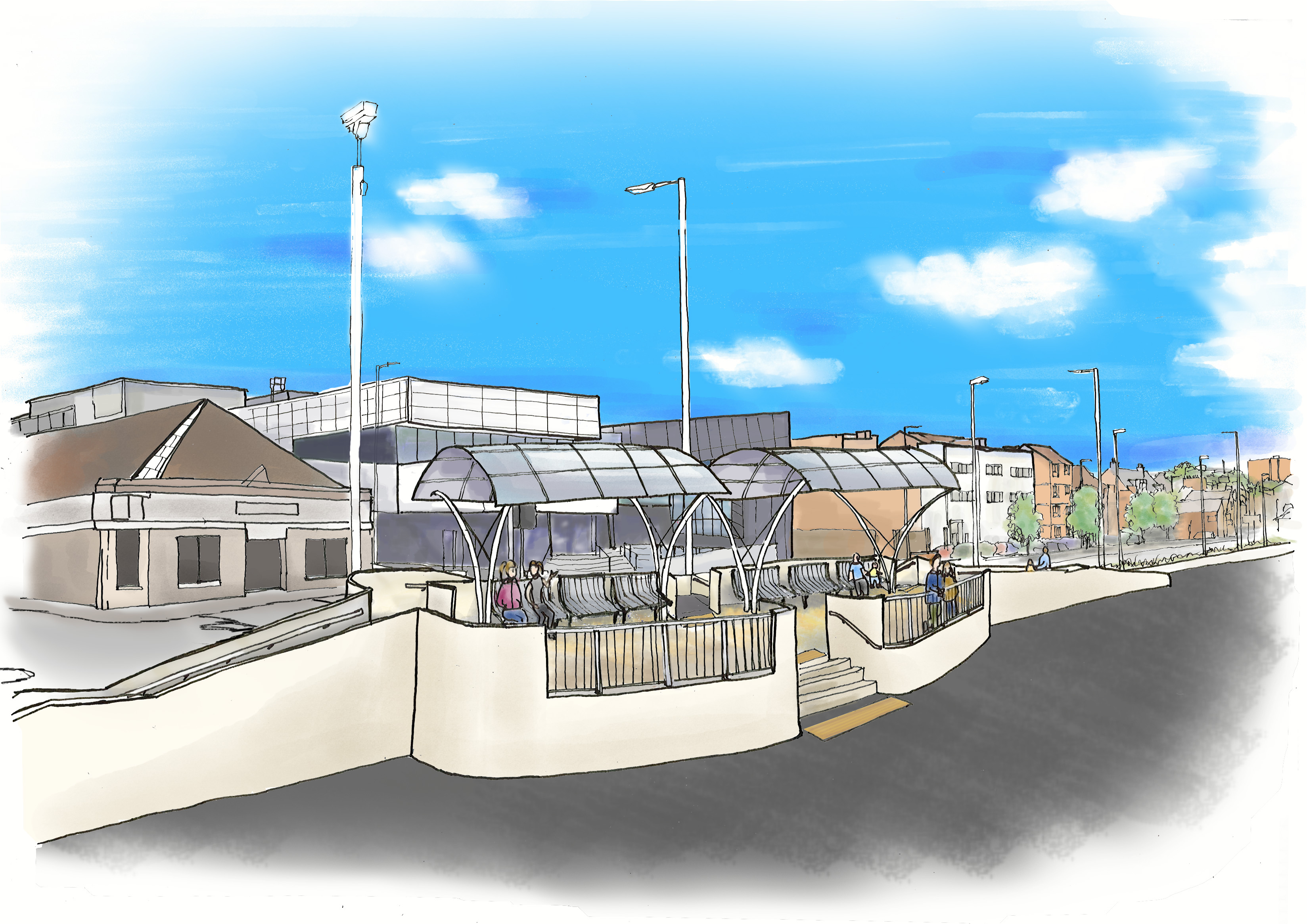 An artist's impression of the Kirkcaldy Esplanade viewing platform.