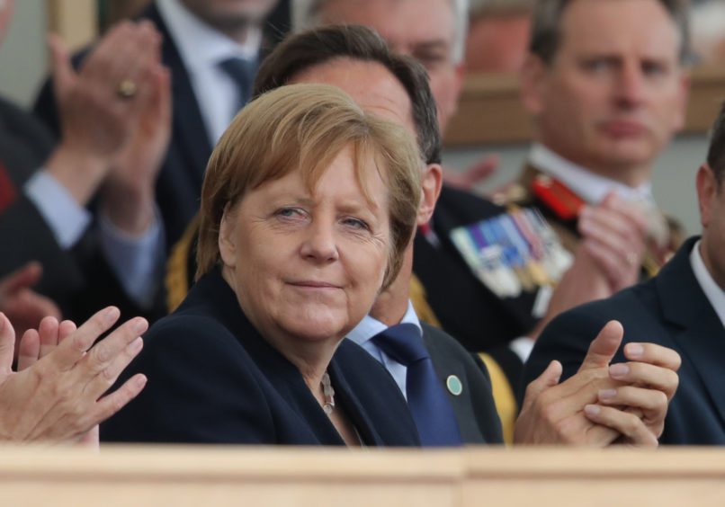 German Chancellor Angela Merkel during the commemorations for the 75th Anniversary of the D-Day.