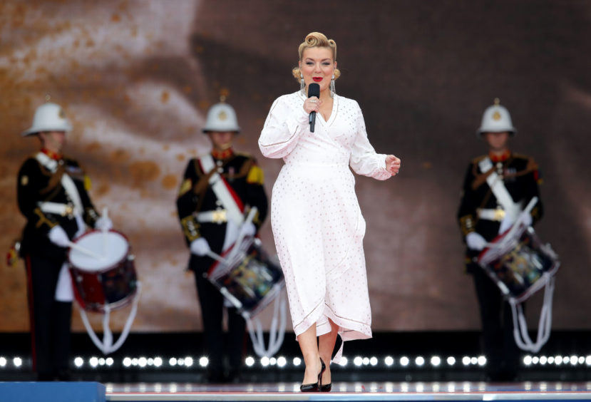 Sheridan Smith performs a rendition of When the Lights Go On Again.