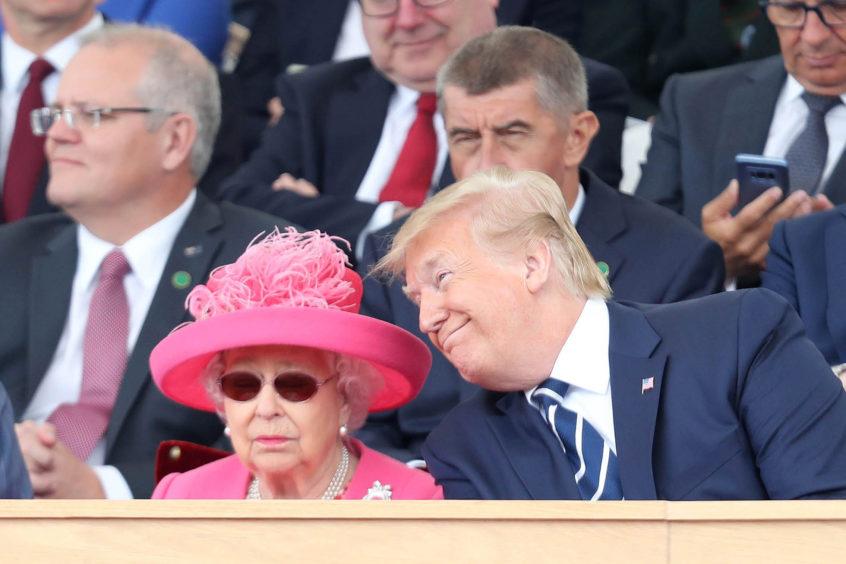 Queen Elizabeth II and US President Donald Trump.