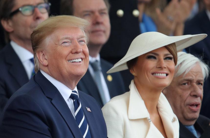 US President Donald Trump and Melania Trump.