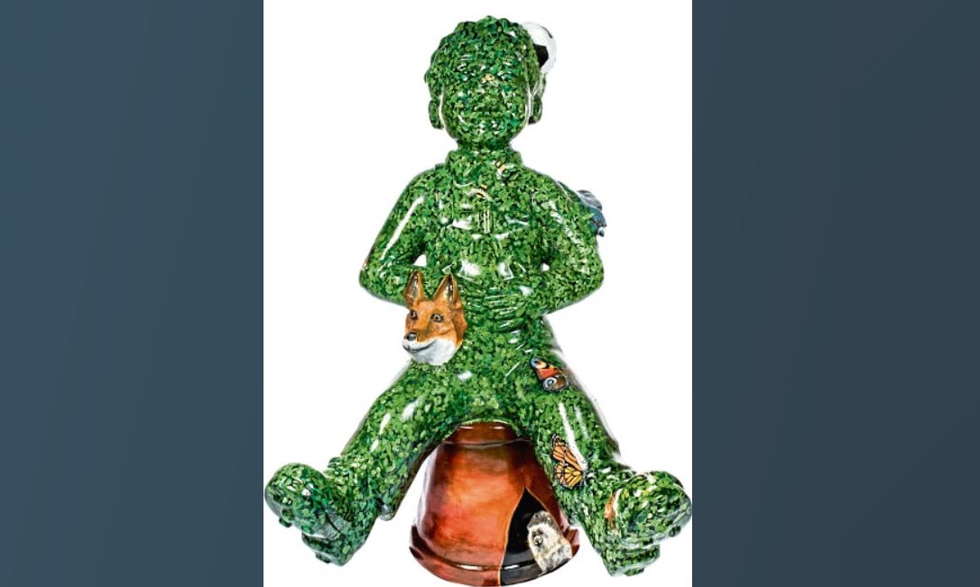 The Oor Wullie statue was vandalised outside the Emirates Arena in Glasgow.