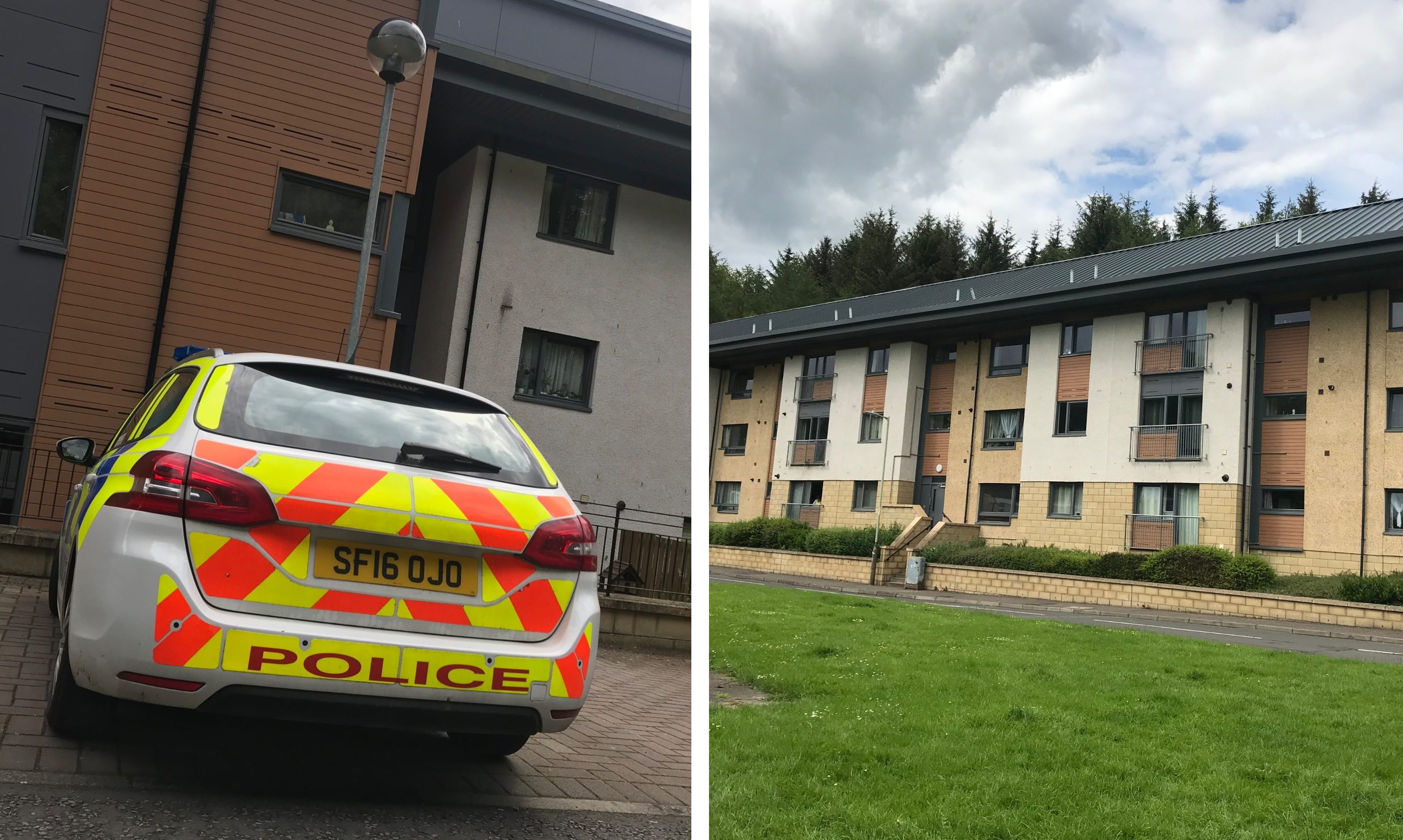 Police at Wallace Court, Perth.