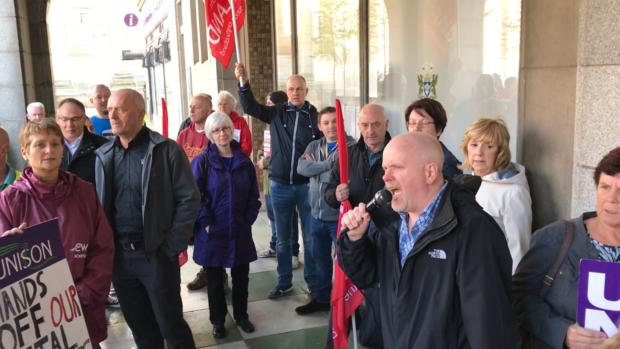 A previous public sector trade union protest.