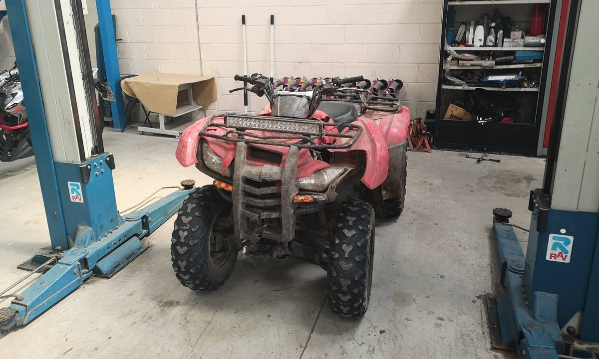 Police released a photo of the quad bike involved on social media after it was seized.