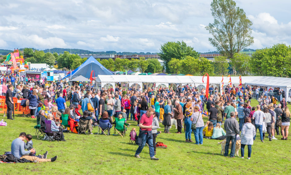 Crowds at WestFest in 2019.