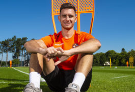 Dundee United's Adrian Sporle may still be homesick but he says getting first Premiership goal will help him feel better
