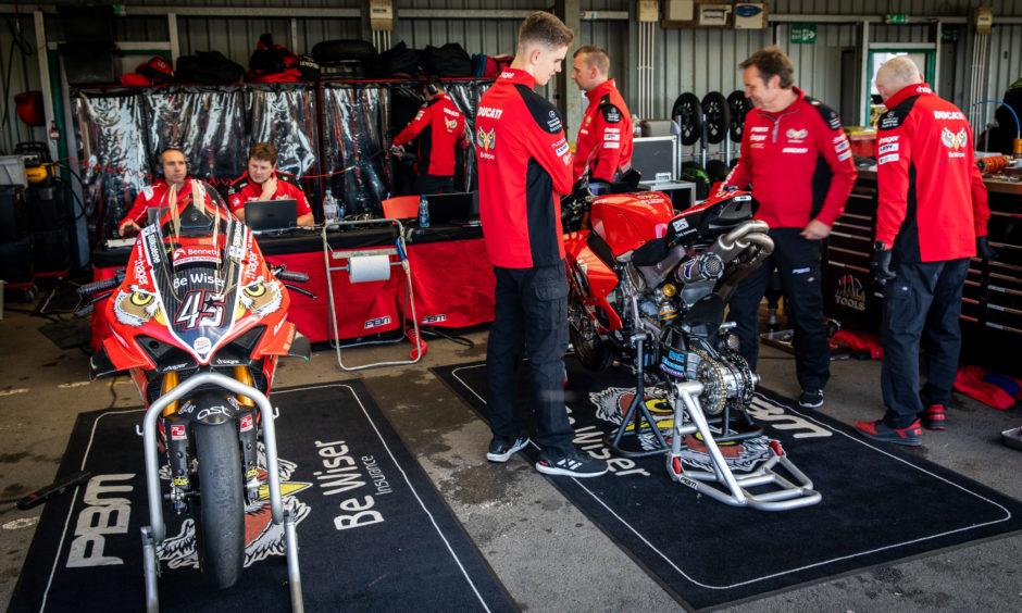 Championship leaders crew with Ducati bikes, Scott Rennie.