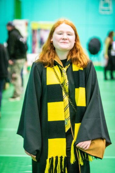 Megan Reid, 14,  from Glenrothes as Ginny from Harry Potter.