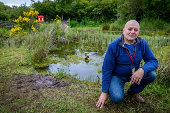 Former custodian of the pond at Exxon FEP, Duncan Rogers.
