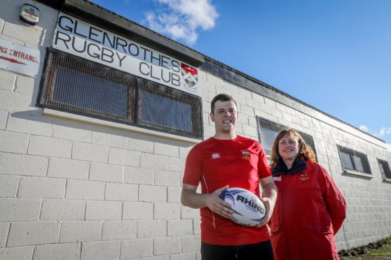 Glenrothes Rugby Club captain, Kain Duguid and Sheila Beare club President have welcomed Fife Council's backing.