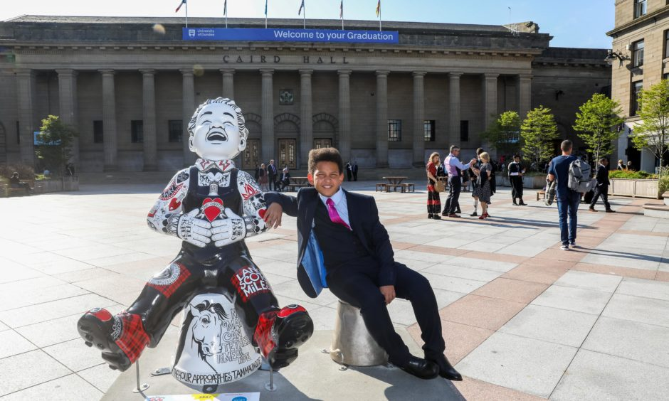 The perfect opportunity for a selfie with Wullie!