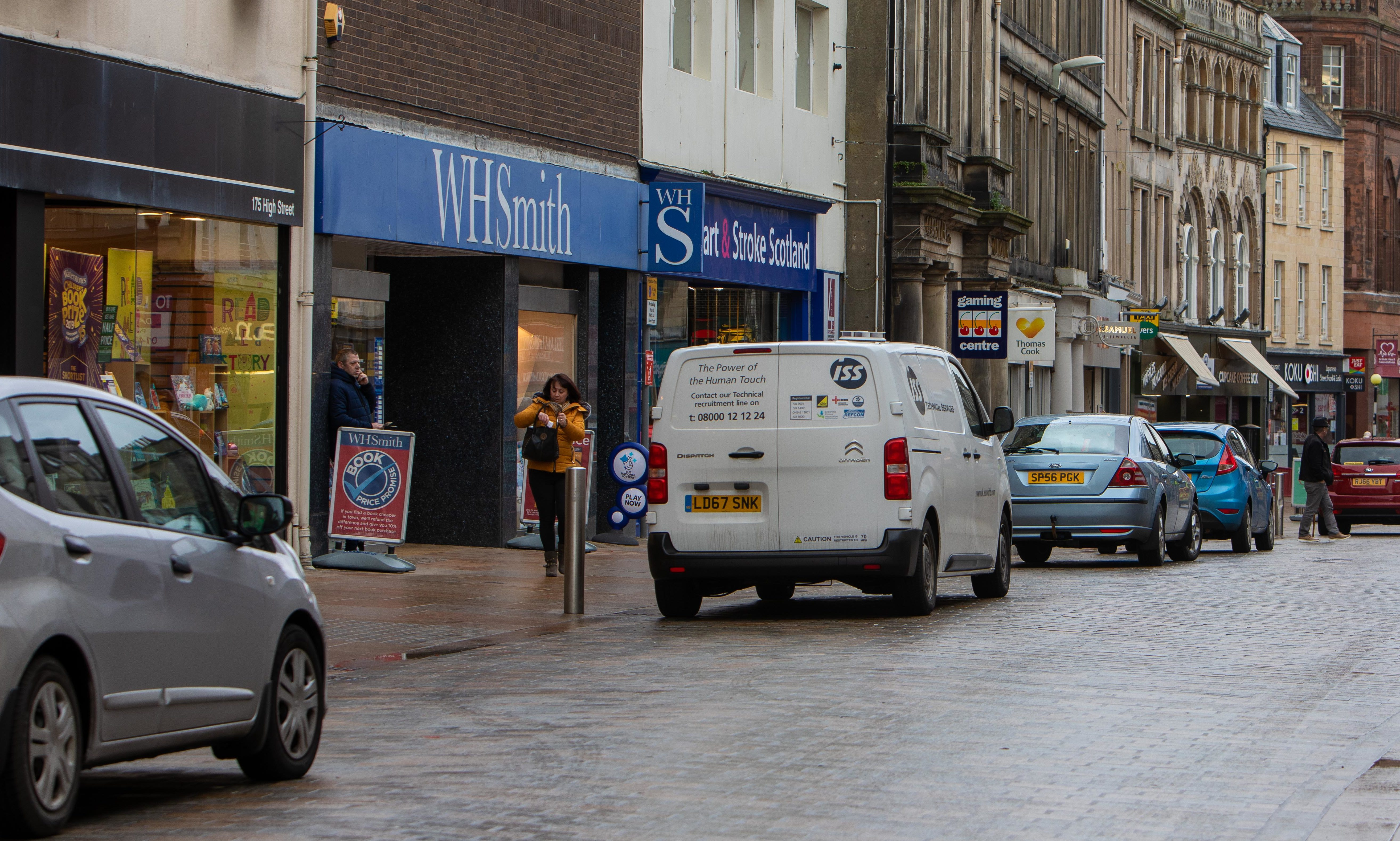 WH Smith onf Kirkcaldy High Street.