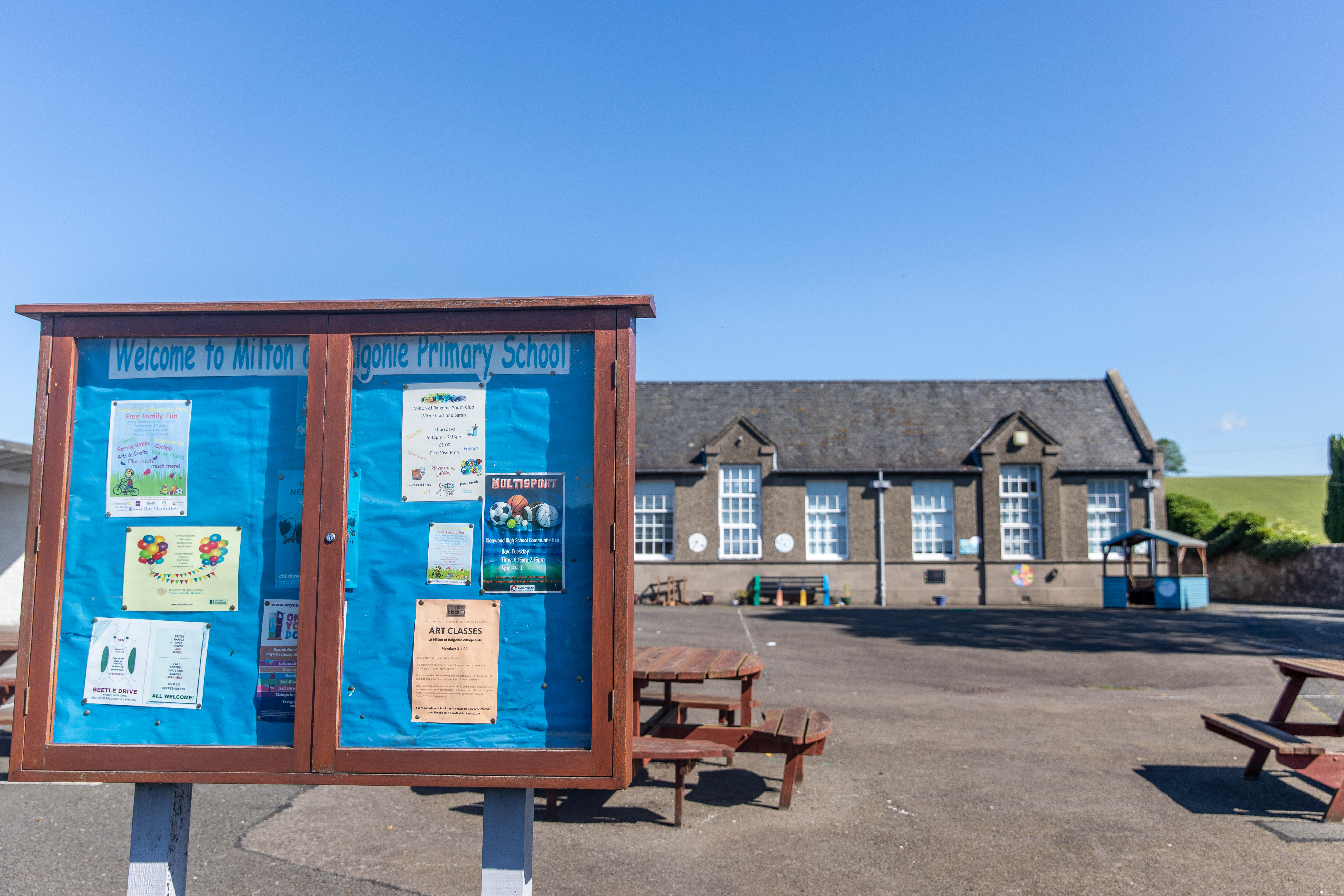 Milton of Balgonie Primary School is to be mothballed.