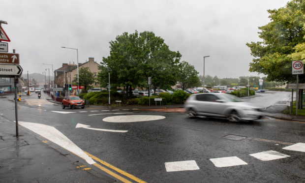 The roundabout will ease traffic pressure