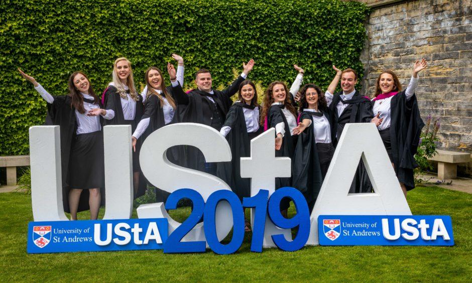 Graduates of 2019 are Kirsten Chalmers, Roseanna Keith, Ailsa Edward, Dan Davison, Bene Doernet, Anna Cavalleri, Rachel Sulliman, Tom Francis, and Rachel Reid.
