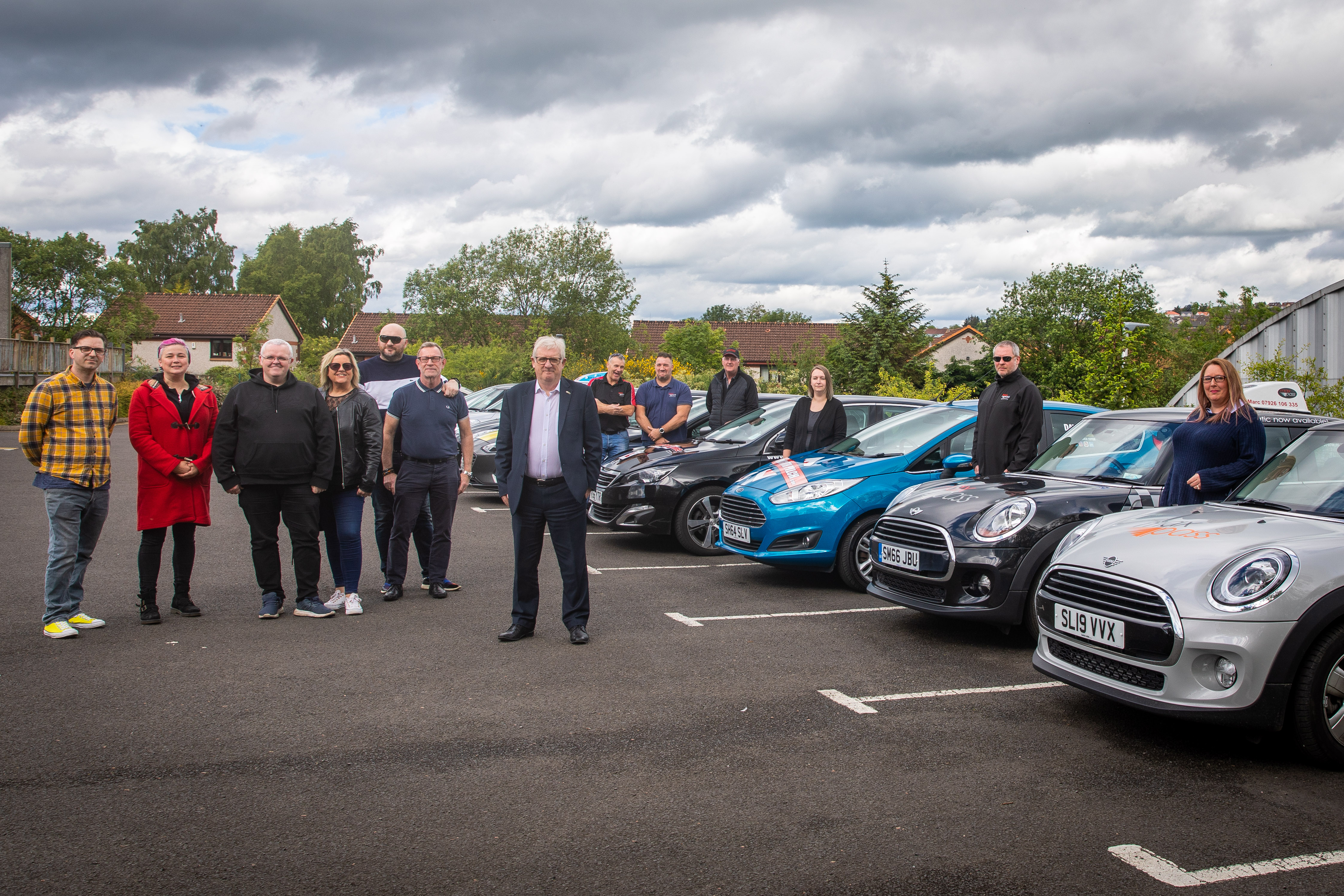 MP Douglas Chapman met with driving instructors to discuss the problems.