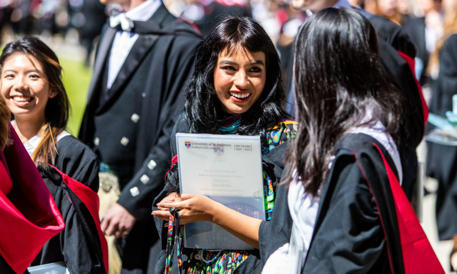 Graduations celebrate their achievements.