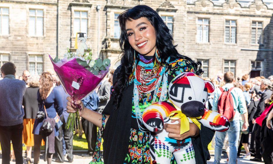 Courier News - Fife - Leeza Clark - St Andrews University Graduations Thursday - CR0010951 - St Andrews - Picture Shows: Dante Blais-Billie (22) from Florida - Thursday 27th June 2019 - Steve Brown / DCT Media