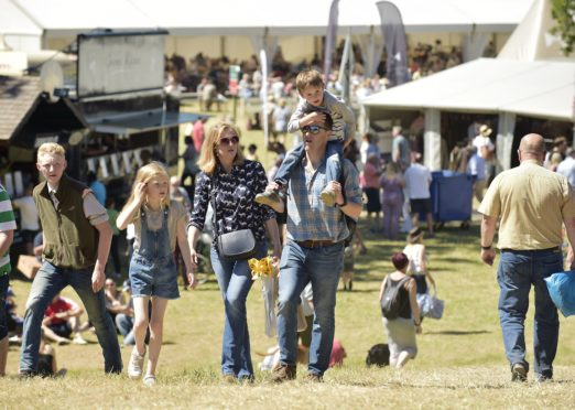 Country sports fans at last year's Scottish Game Fair.