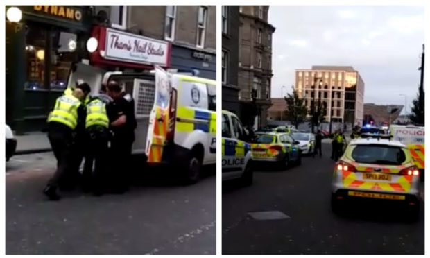The scene outside the Club Bar in Dundee.