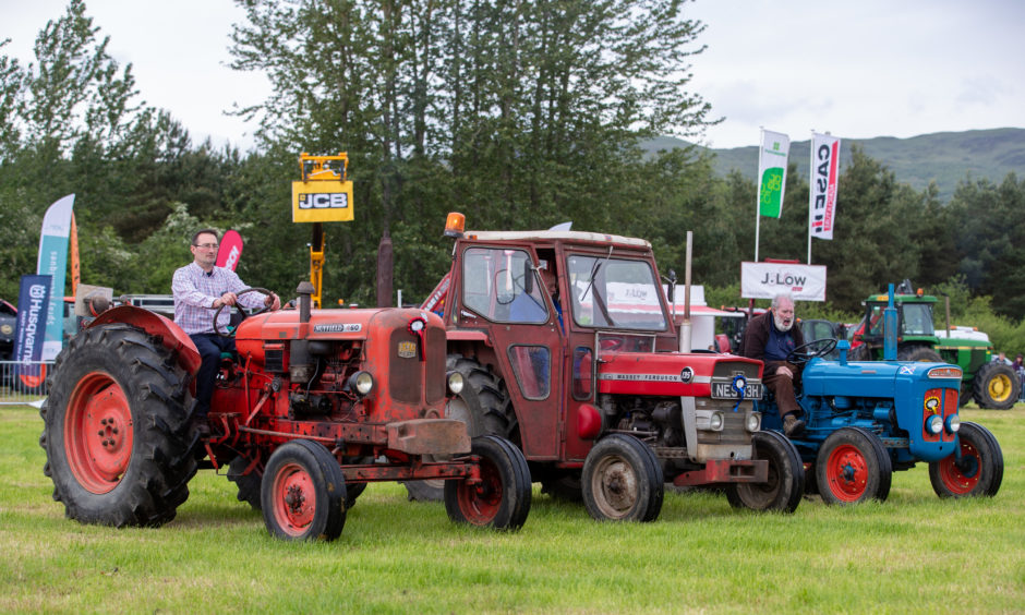 Vintage tractors on display during the West Fife Show.