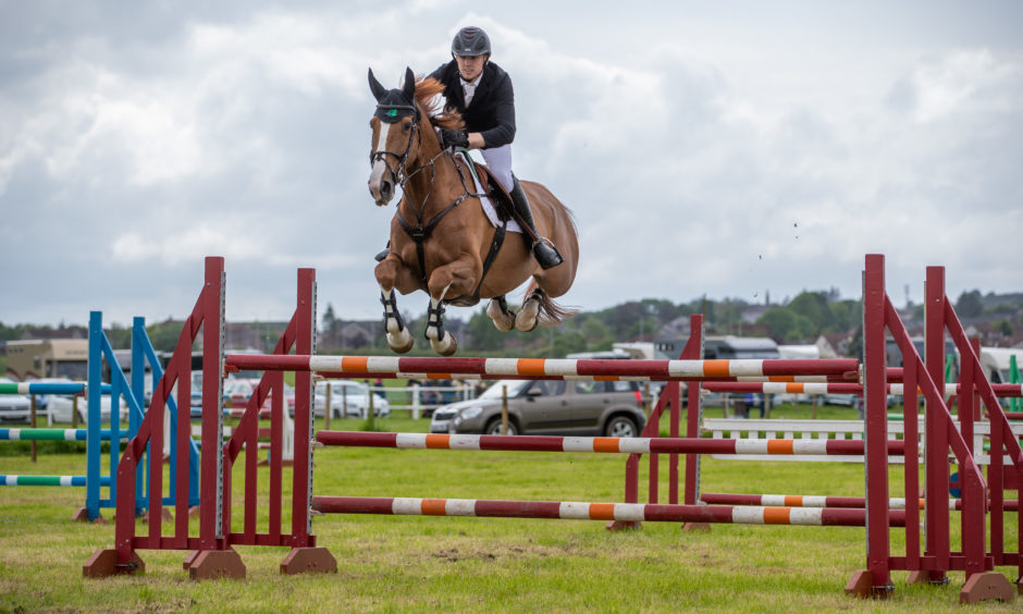 Show jumpers during the West Fife Show.