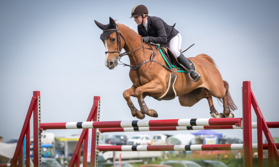Riders took part in showjumping including qualifiers for the Scottish Highland Show later in the month.
