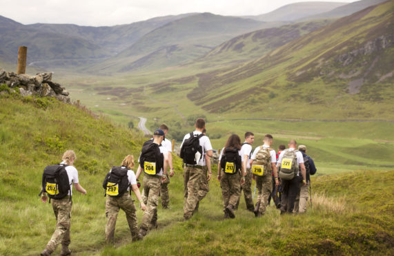 Participants take on the Cateran Yomp