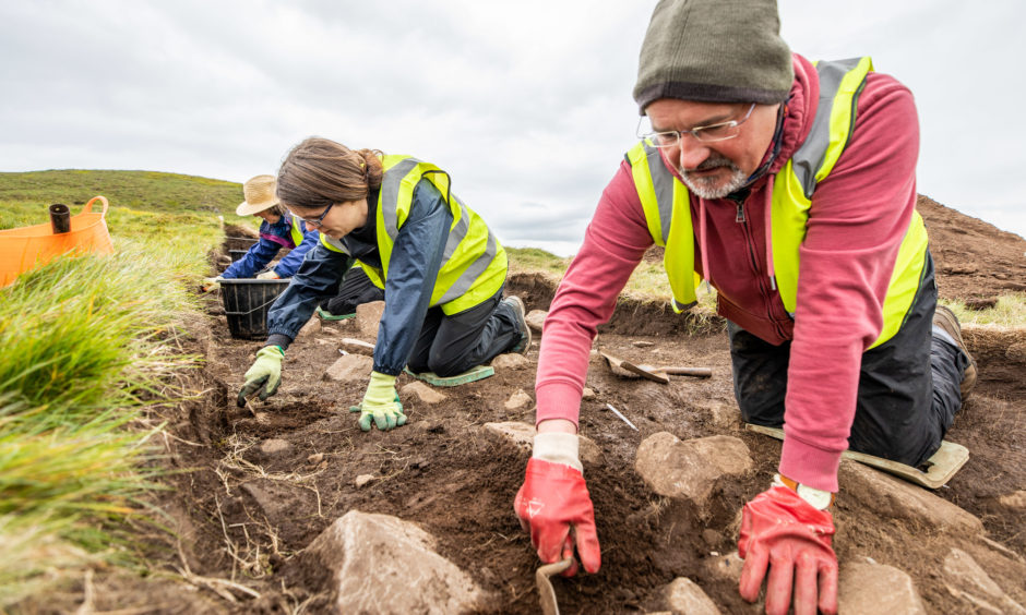 Bob Nicolson (57) from Cupar volunteers on dig sites, pictured here beside another volunteer Karen Stewart-Russell (38) from Star of Markinch.