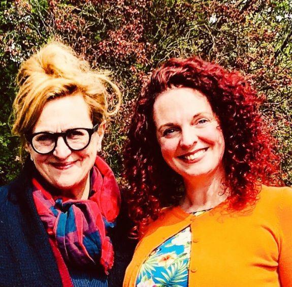 Barbara Dickson with BBC radio host Nicola Meighan
