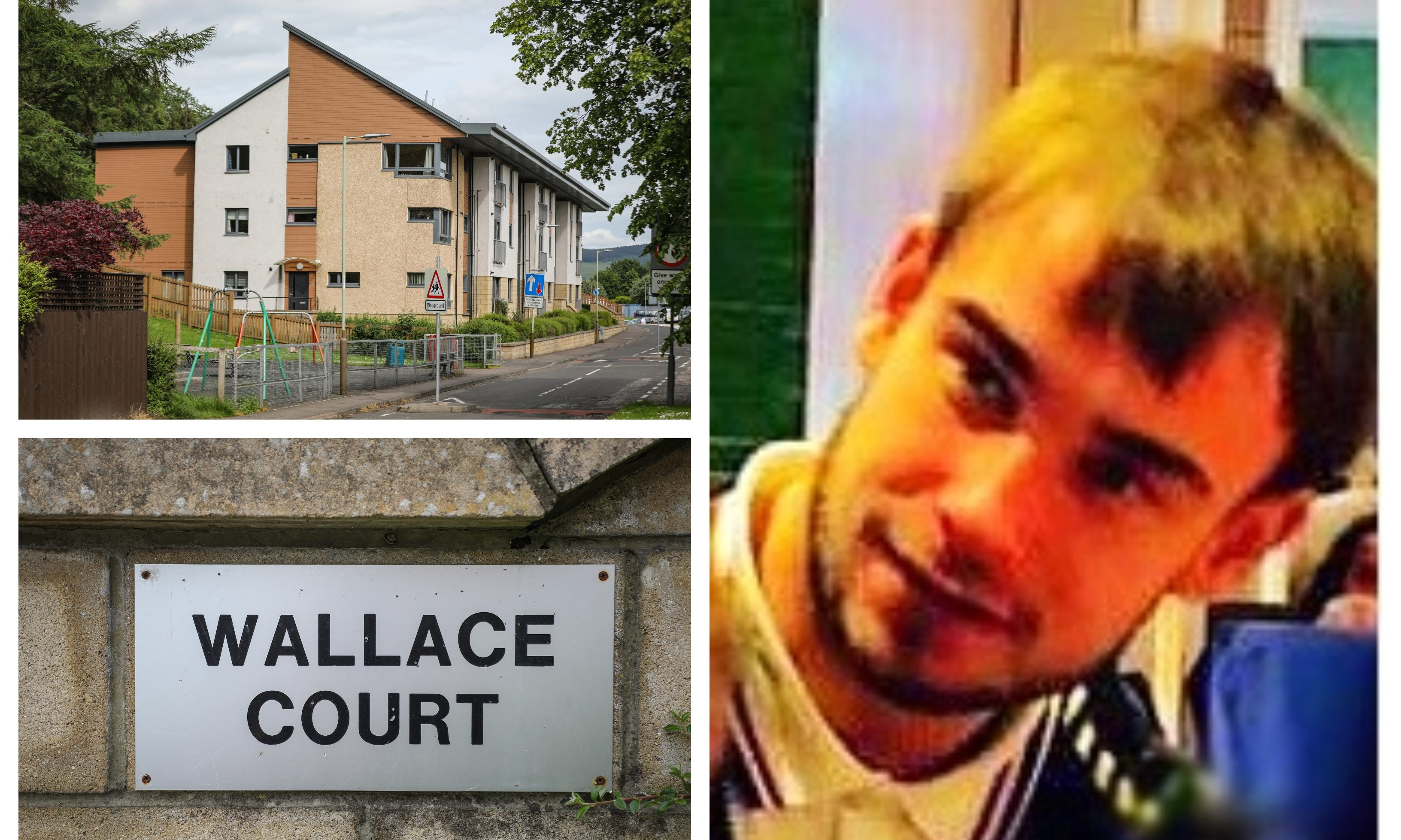 Barry Dixon died in hospital after being found injured in Wallace Court.