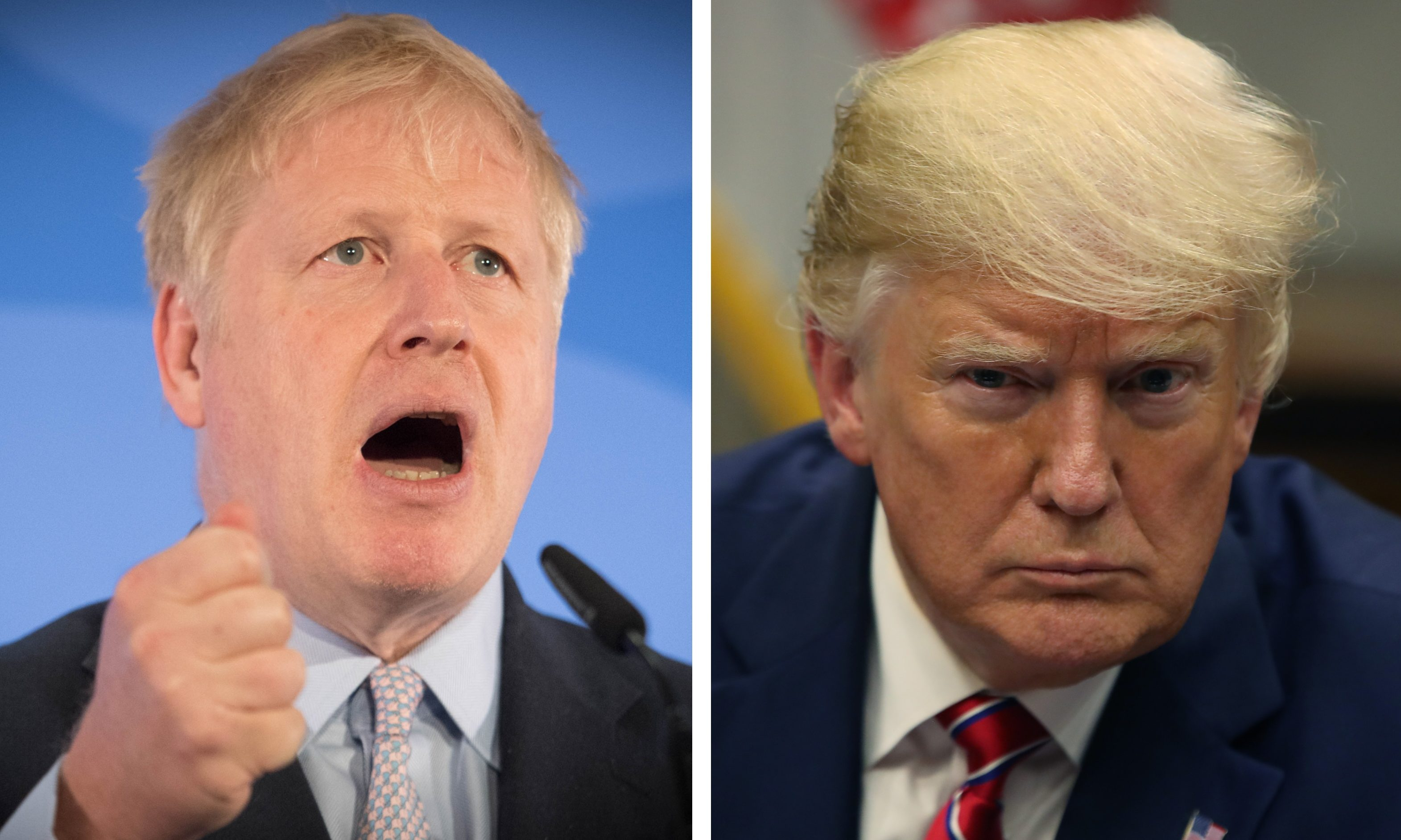 Boris Johnson and Donald Trump.
