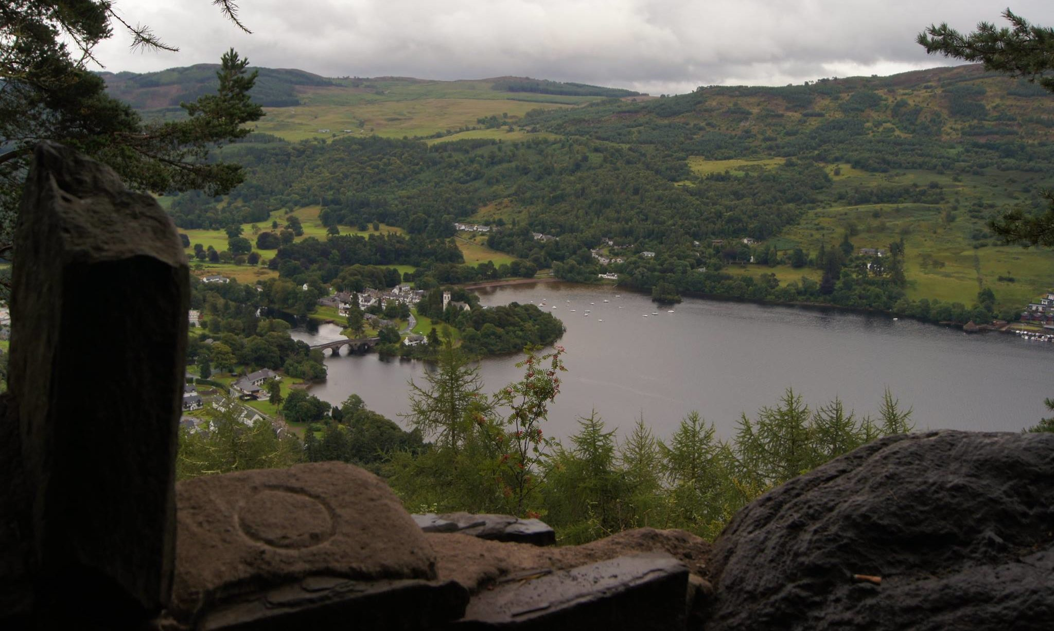 The view from Drummond Hill, Loch Tay.